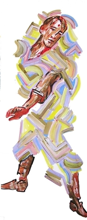 figures, acrylic paper - Calm - characterdesign - frankcreber   ello