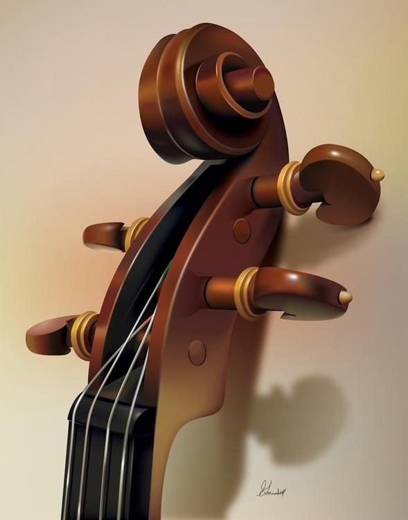 Title: Violin Details Vector Il - g_marshallarts | ello