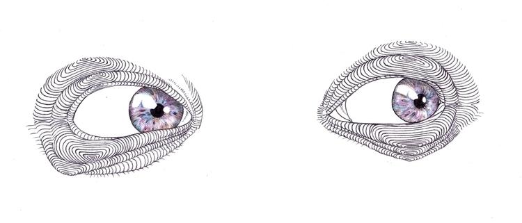 Identity/ Fingerprint eyes - illustration - thecreativefish | ello