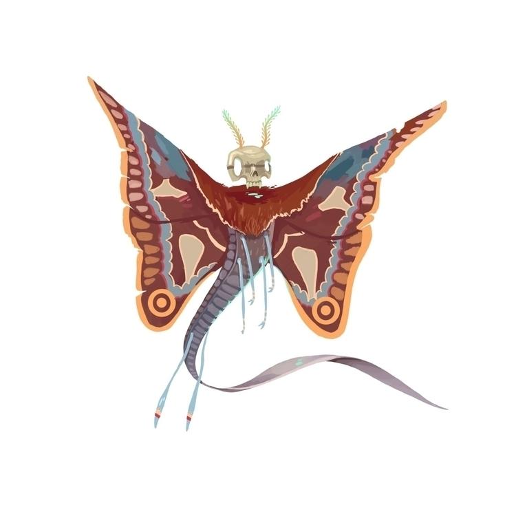 itzpapalotl - clawed butterfly - kalegiro | ello