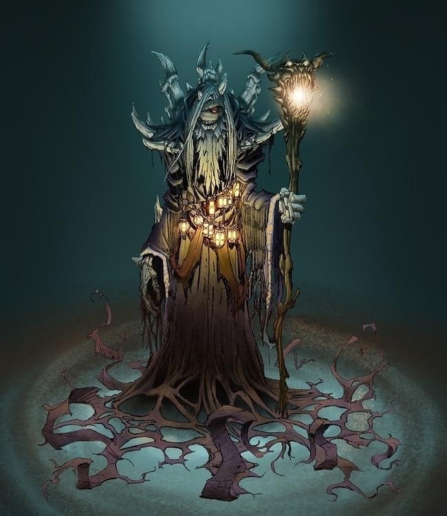 Dark Wizard - gameart, conceptart - tommcweeney | ello