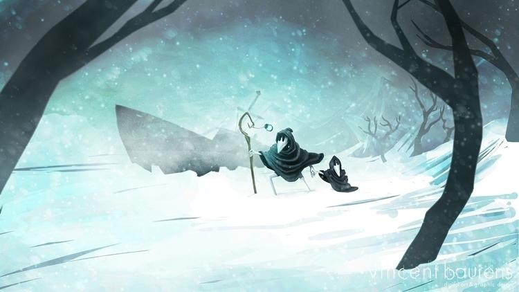 Blizzard - illustration, digitalpainting - vincentbaurens   ello