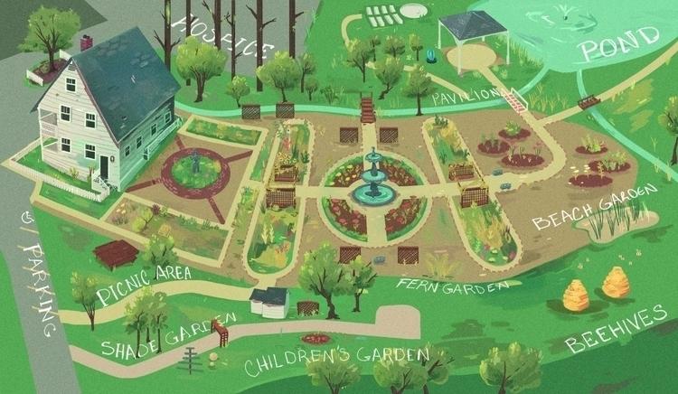 Map Botanical Gardens Savannah - kalegiro   ello