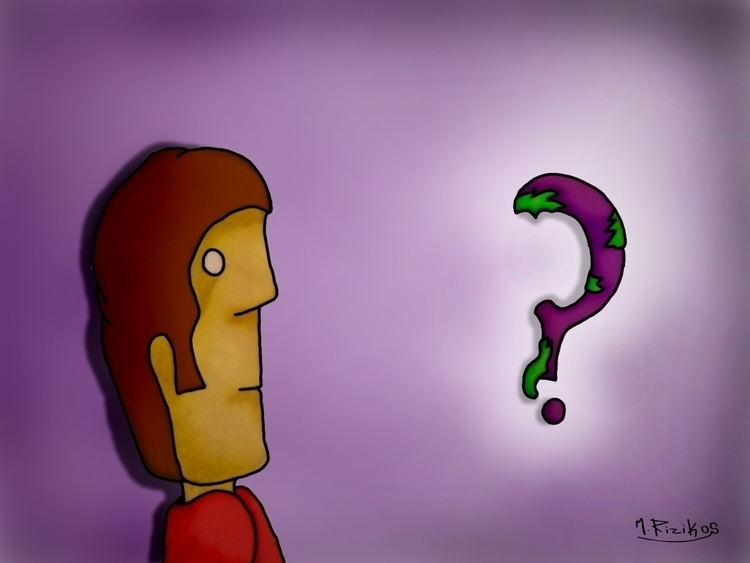 Question road - illustration - manolis-1210 | ello