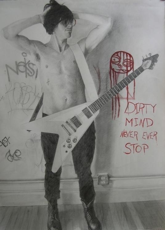 Dirty Mind (Red) Graphite Penci - abetko76 | ello