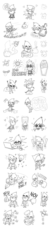vampire, sketch, stickers, chat - tokyocandies-1186 | ello