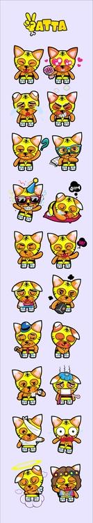 stickers, chat, emoji, cat, tiger - tokyocandies-1186 | ello