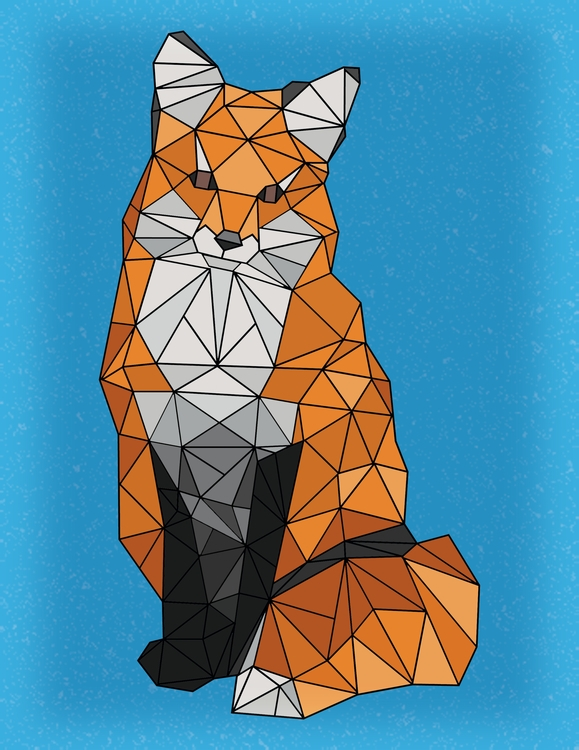 Geometric Fox Art - illustration - jessicaredmond | ello