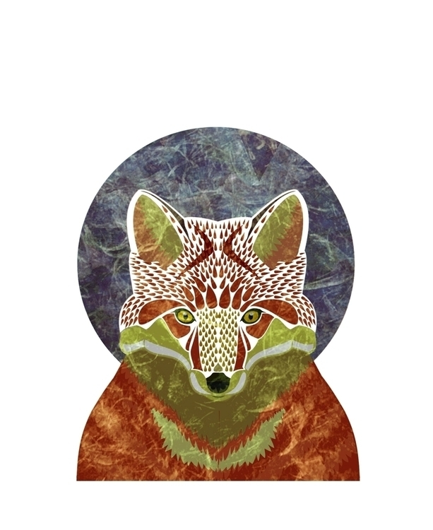 fox - illustration, forest, vectorillustration - tiririri | ello