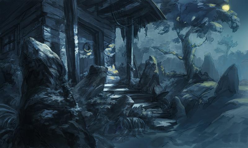 sketch Lovecraft story - illustration - mircha | ello