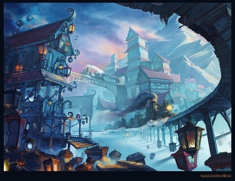 illustration times challenge - landscape - mircha | ello