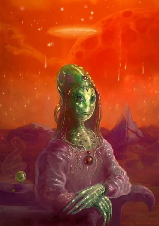 Martian Chronicles - illustration - smallspacesnail | ello