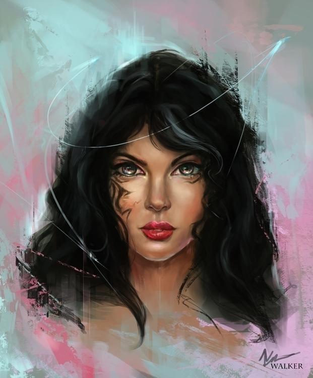 portrait painting original char - temariuswalker | ello