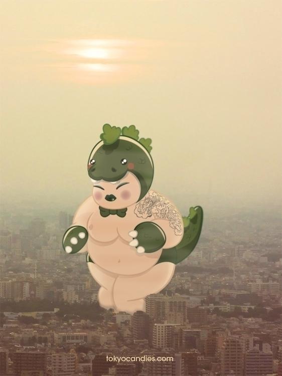 chubby, girl, naked, godzilla - tokyocandies-1186   ello