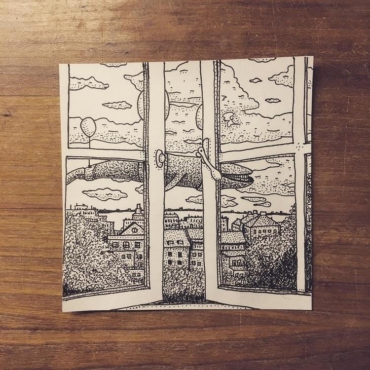 Whale - illustration, drawing - snarlik | ello