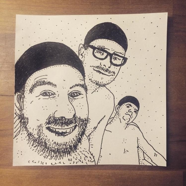 Friends - drawing, illustration - snarlik | ello