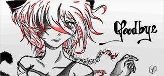 Goodbye - illustration, art, anime - jessicaredmond | ello