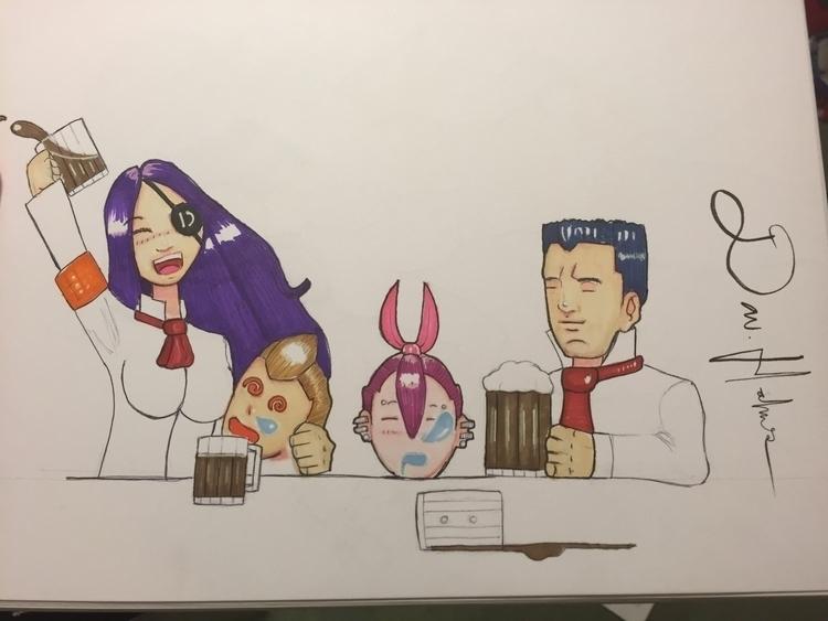 Workin characters comic/manga - illustration - ddhlmes3 | ello