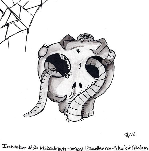 - Drawlloween2016 Skulls Skelet - svaeth   ello