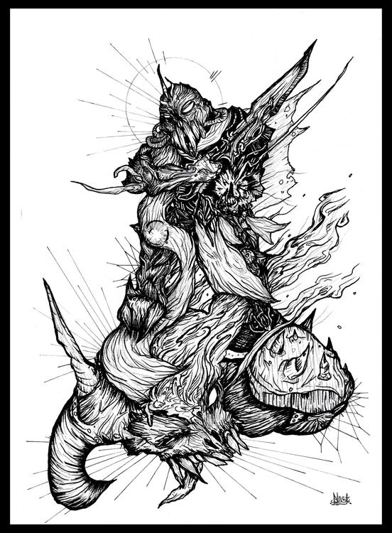 Breath - illustration, conceptart - blast-1381   ello