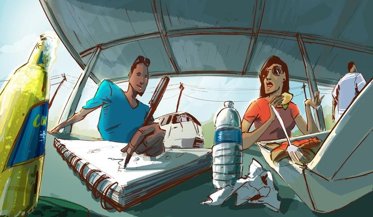 Saturday Bojangles - illustration - lamarosmith | ello