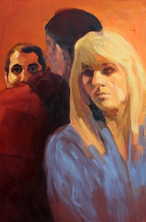 feel oil lino 55 85 cm, 2014 - painting - suzanadzelatovic | ello