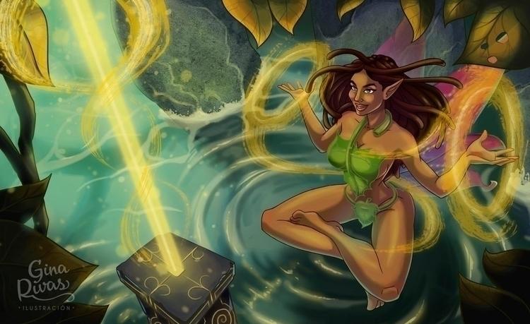 Fairy Magic _02 - illustration, painting - ginarivas | ello