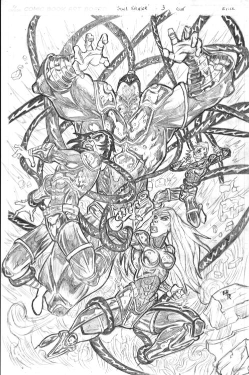 Soul Eraser issue 3 - illustration - ehernand1   ello