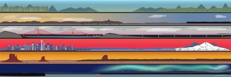 Landscapes - vector, landscape, digitalart - steve-2038 | ello