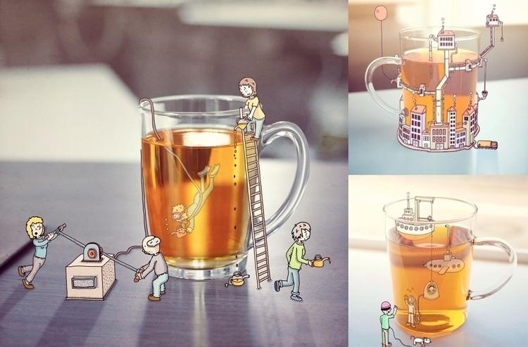 Lipton - Social media content - illustration - snarlik | ello
