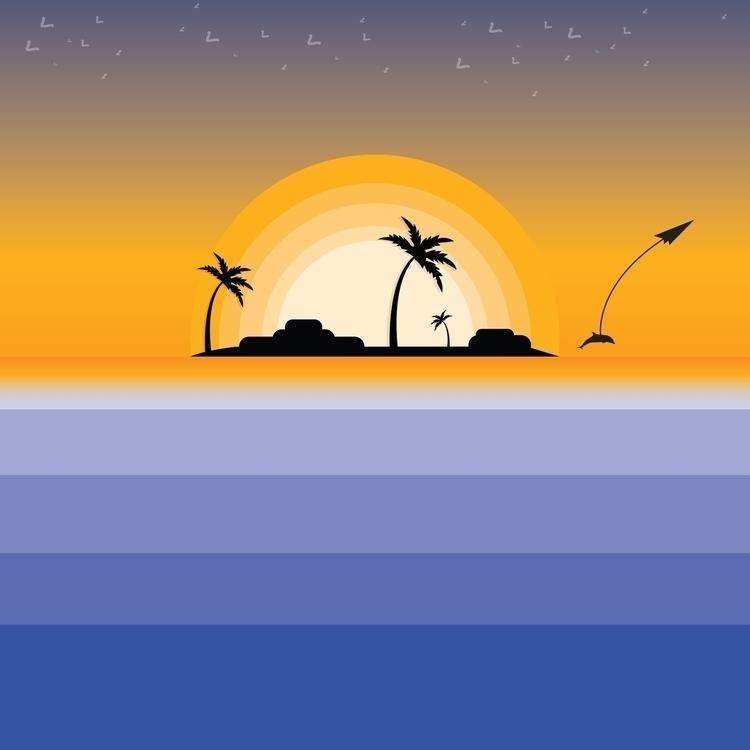 Sunset - sunset, sea, digitalart - steve-2038 | ello