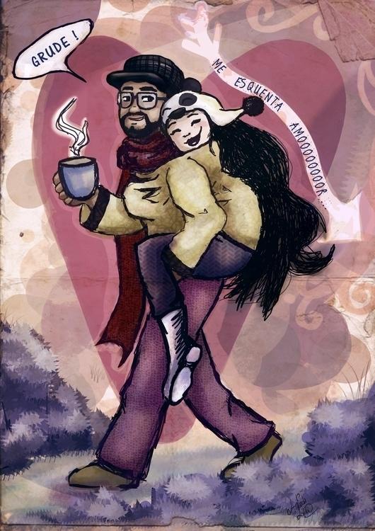 couple, love, dating, hug, romance - amandaloyolla | ello