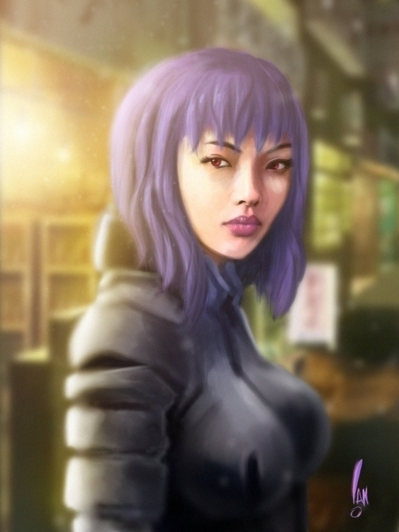 Rila Fukushima Motoko kusanagi - sketchian-5498 | ello