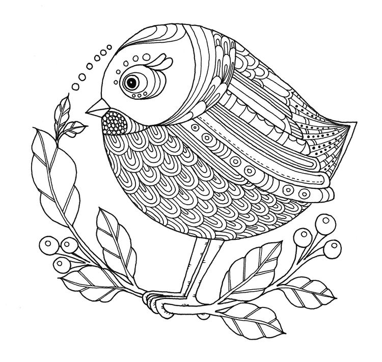 Birdie - illustration, drawing, blackandwhite - ellenparzer | ello