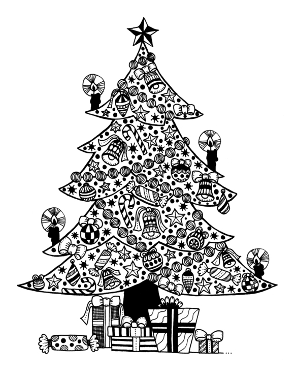 Christmas Tree - illustration, drawing - ellenparzer | ello