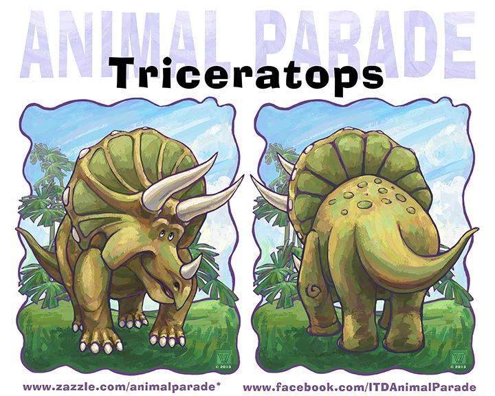 Animal Parade Triceratops Comin - tracivw | ello