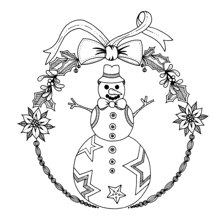 Frosty - illustration, drawing, blackandwhite - ellenparzer | ello