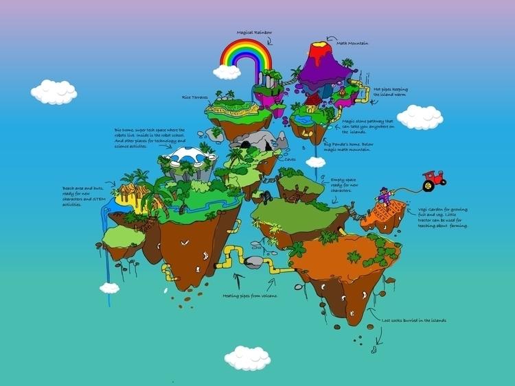 Sock Islands Version Illustrati - sambarori | ello