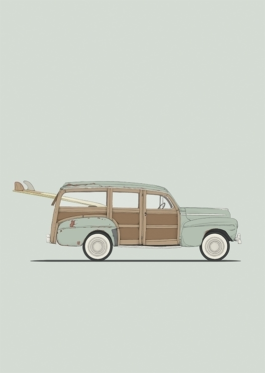 poster ford woody - fordwoody, classiccar - poposter | ello