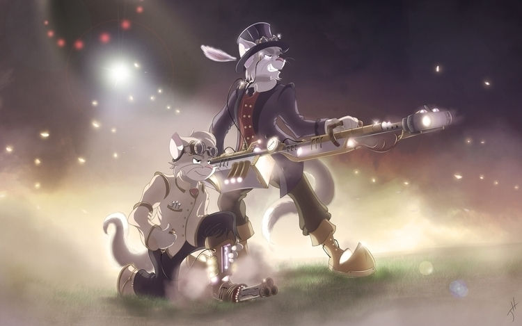 Steampunks - illustration, cartoon - fxscreamer | ello