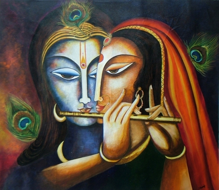 Divine Companions- Krishna Radh - neeruart | ello