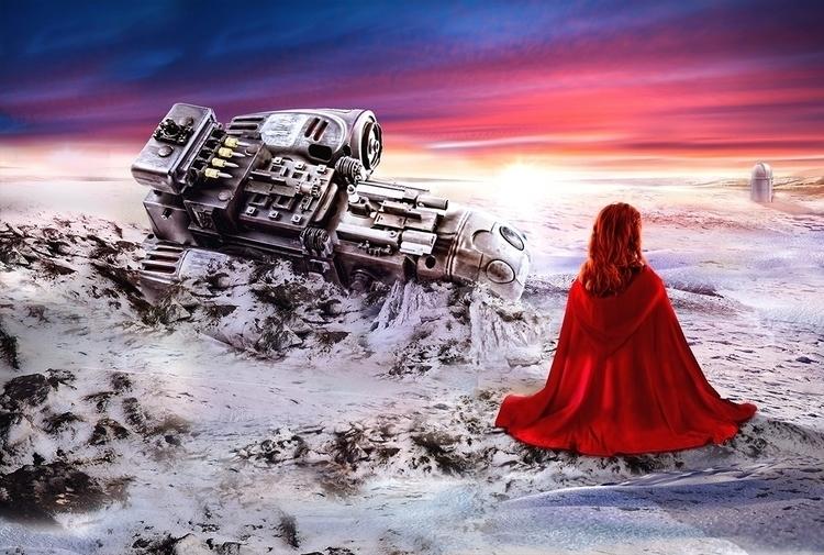 Fantasy scene - illustration, painting - magdawozniak | ello