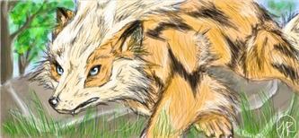 Resting Arcanine - illustration - jessicaredmond   ello