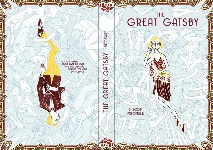 book cover Scott Great Gatsby - 1920s - meedean | ello