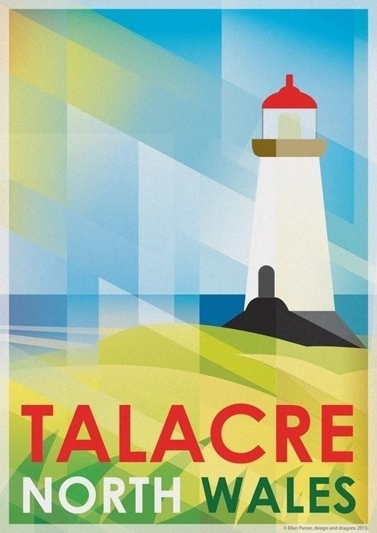 Talacre Lighthouse - illustration - ellenparzer | ello