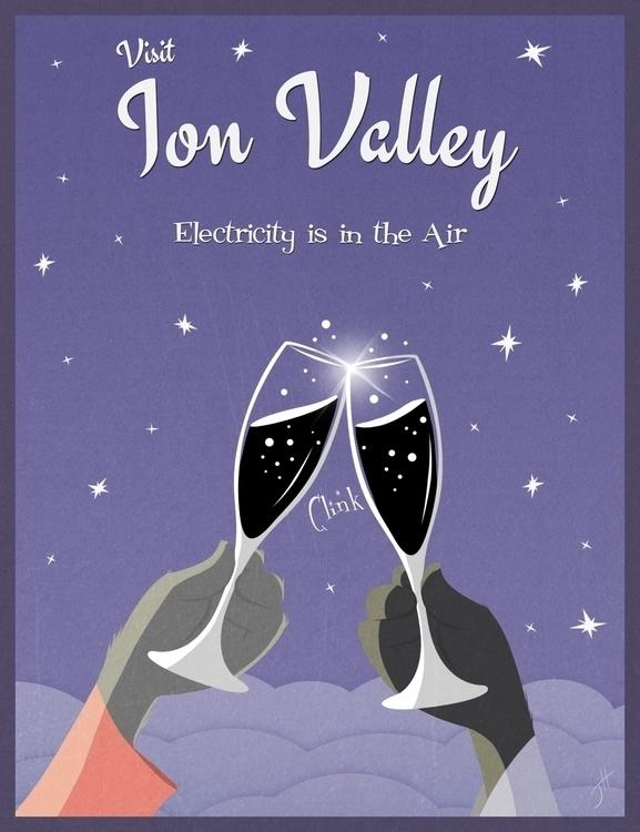 Visit Ion Valley - illustration - fxscreamer | ello