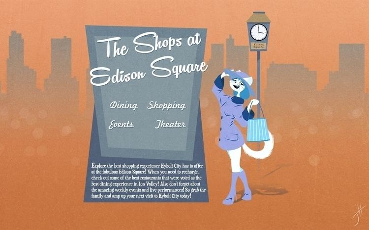 Shops Edison Square - illustration - fxscreamer   ello