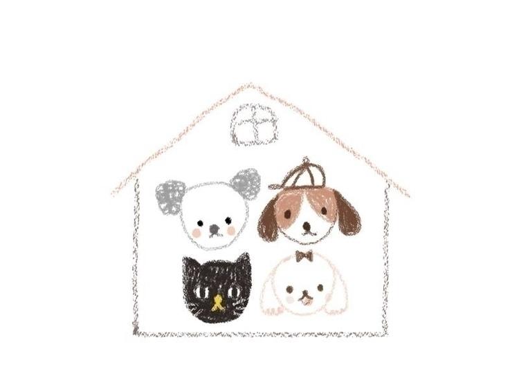 dog, cat, children'sillustration - ruedeejulla | ello