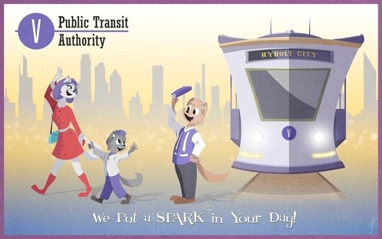 Public Transit Authority - illustration - fxscreamer | ello