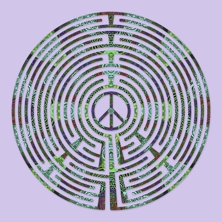 Peace - Lilacs Bloom labyrinth  - nancyaurandhumpf | ello
